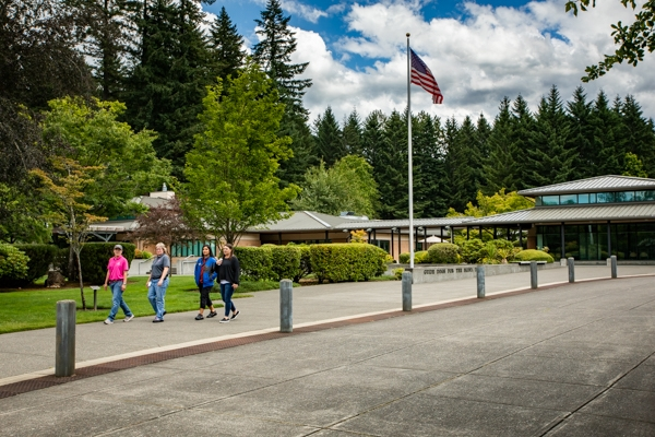 An exterior shot of the grounds of GDB's Oregon campus.