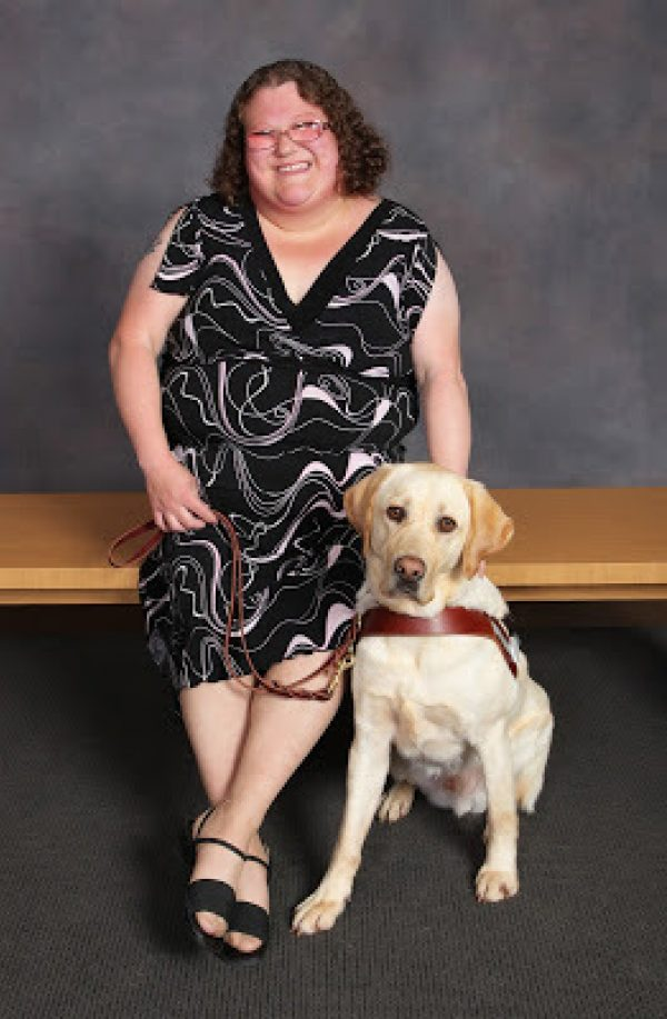 Deanna Lewis with her guide dog